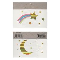 Tatouages Etoile filante et Lune - Multicolor