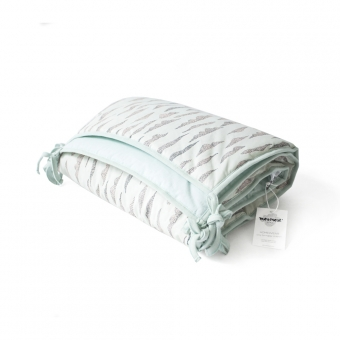 tour de lit round vert d 39 eau moumout 39 pour chambre. Black Bedroom Furniture Sets. Home Design Ideas