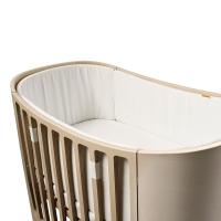 Tour de lit bébé pour lit évolutif Leander - Blanc