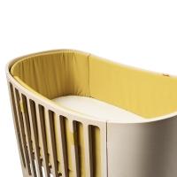 Tour de lit bébé pour lit évolutif Leander - Curry