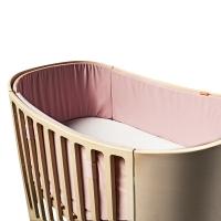 Tour de lit bébé pour lit évolutif Leander - Rose pâle