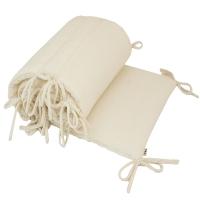 Tour de lit en gaze de coton - Ecru