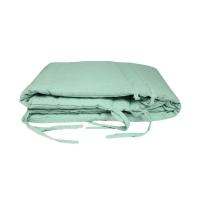 Tour de lit bébé lin - Vert d'eau