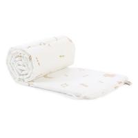 Tour de lit bébé secrets Elements - Blanc