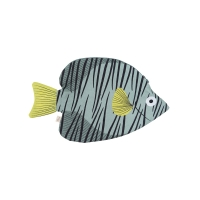 Trousse Green Butterfly fish - Vert tropical