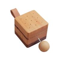Boîte à musique en bois - Noyer/Hêtre