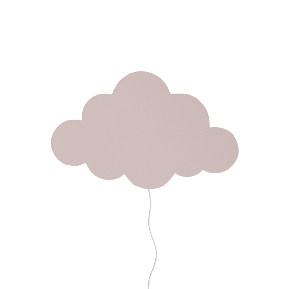 lampe applique nuage vieux rose ferm living pour chambre enfant les enfants du design. Black Bedroom Furniture Sets. Home Design Ideas
