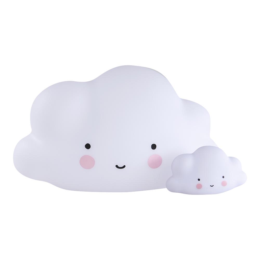 grande veilleuse nuage blanc a little lovely company pour chambre enfant les enfants du design. Black Bedroom Furniture Sets. Home Design Ideas