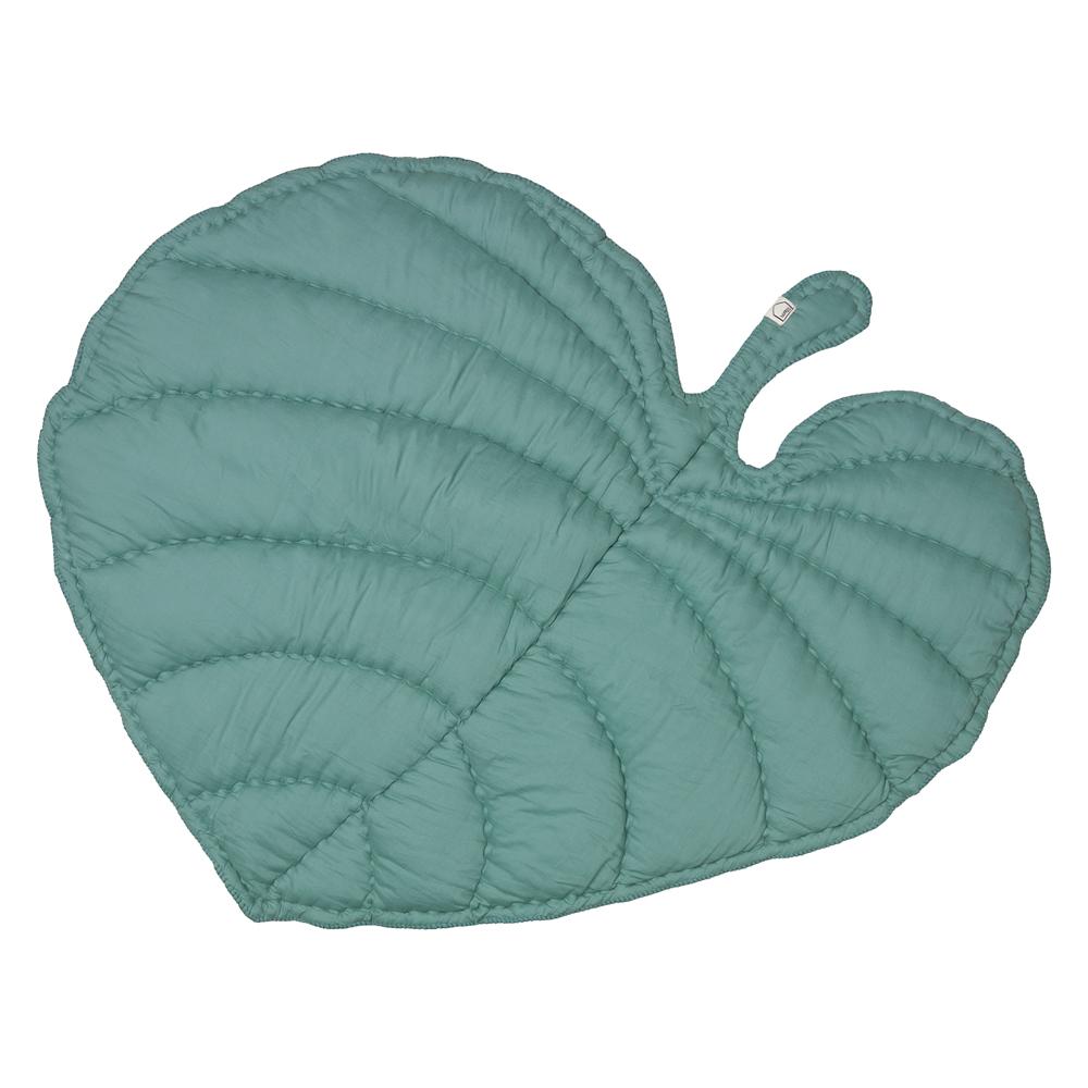 couverture tapis de jeux feuille vert menthe nofred pour chambre enfant les enfants du design. Black Bedroom Furniture Sets. Home Design Ideas