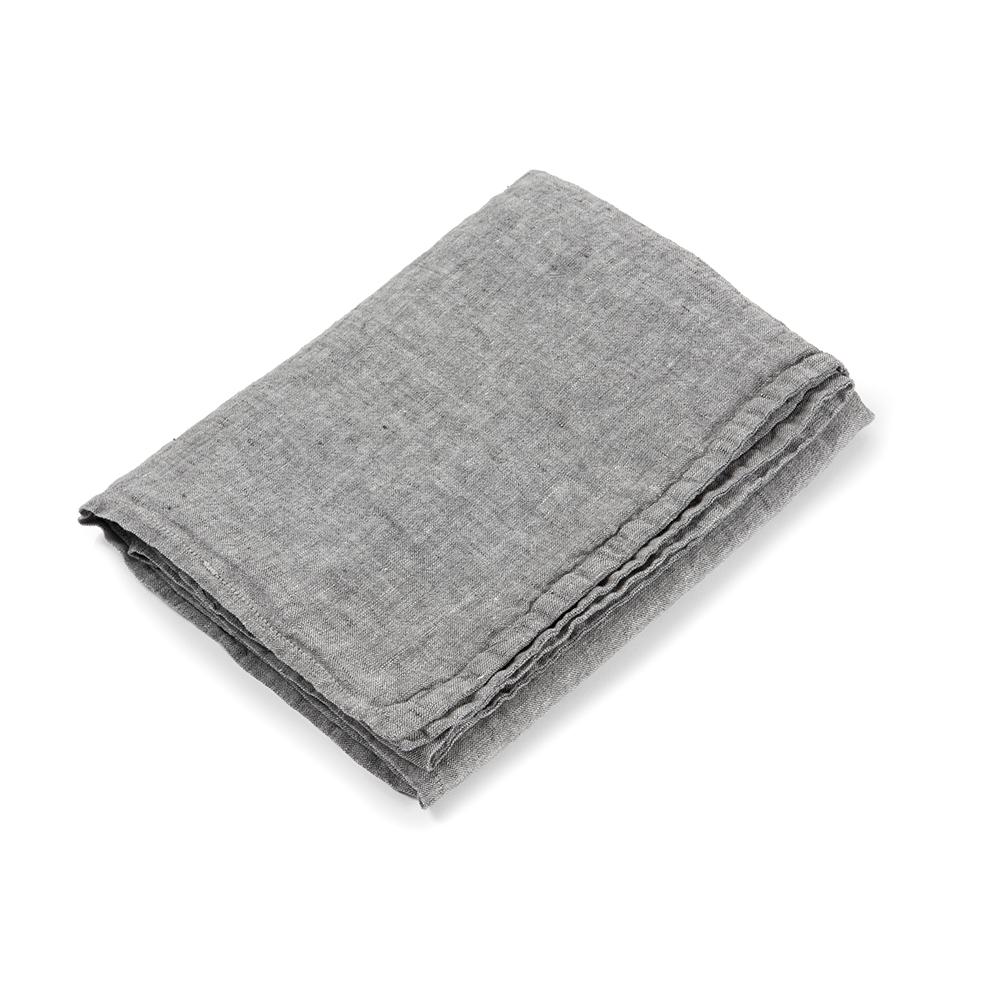 housse de couette en lin 80 x 120 gris chin linge particulier pour chambre enfant les. Black Bedroom Furniture Sets. Home Design Ideas