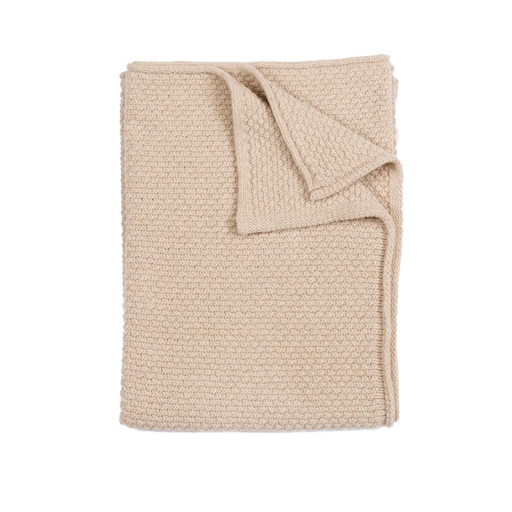 plaid b b tricot sable linge particulier pour chambre. Black Bedroom Furniture Sets. Home Design Ideas