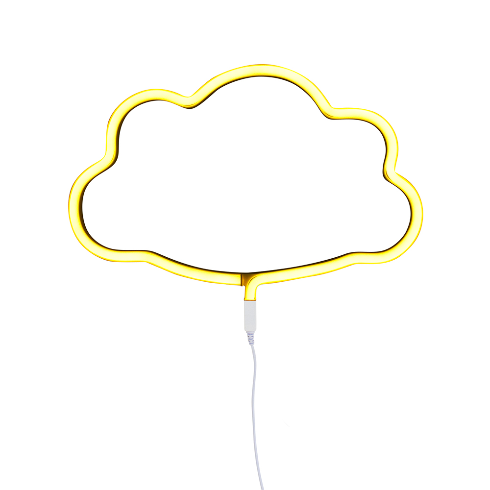 Lampe murale n on nuage jaune a little lovely company for Neon pour chambre