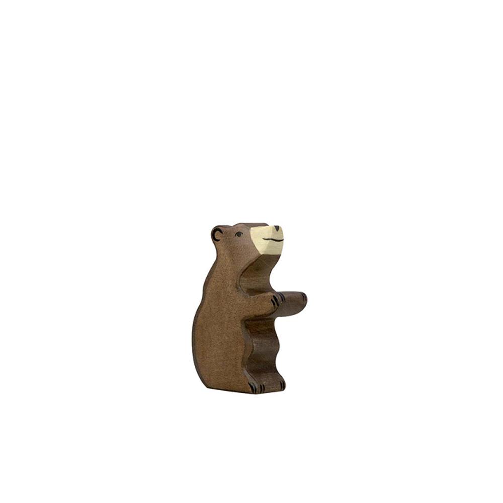 petit ours brun assis holztiger pour chambre enfant les. Black Bedroom Furniture Sets. Home Design Ideas