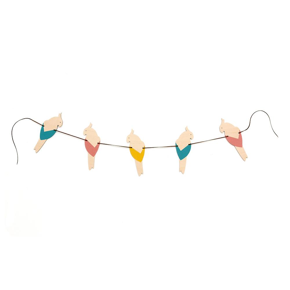 Guirlande Perroquets Multicolore Nobodinoz Pour Chambre