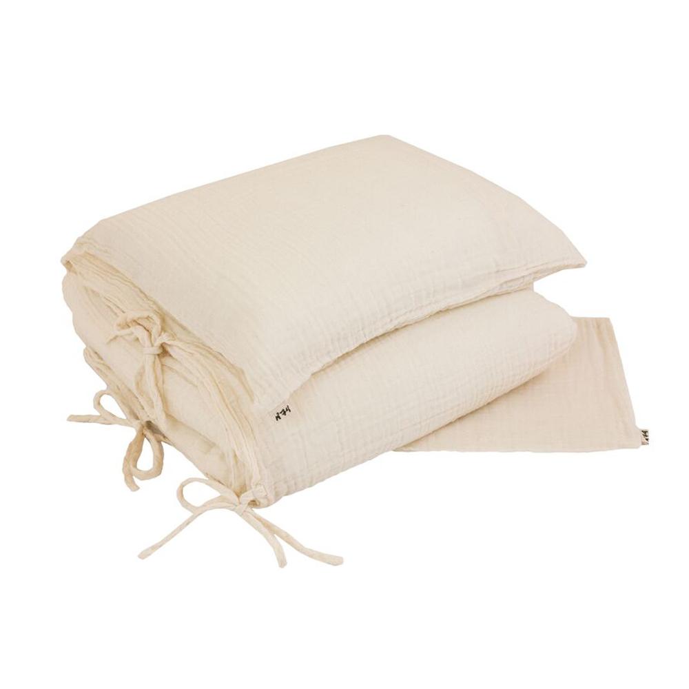 parure de lit en gaze de coton ecru num ro 74 pour chambre enfant les enfants du design. Black Bedroom Furniture Sets. Home Design Ideas