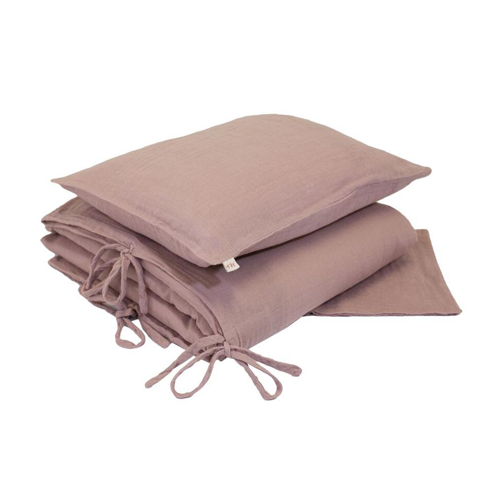 parure de lit en gaze de coton vieux rose num ro 74 pour chambre enfant les enfants du design. Black Bedroom Furniture Sets. Home Design Ideas