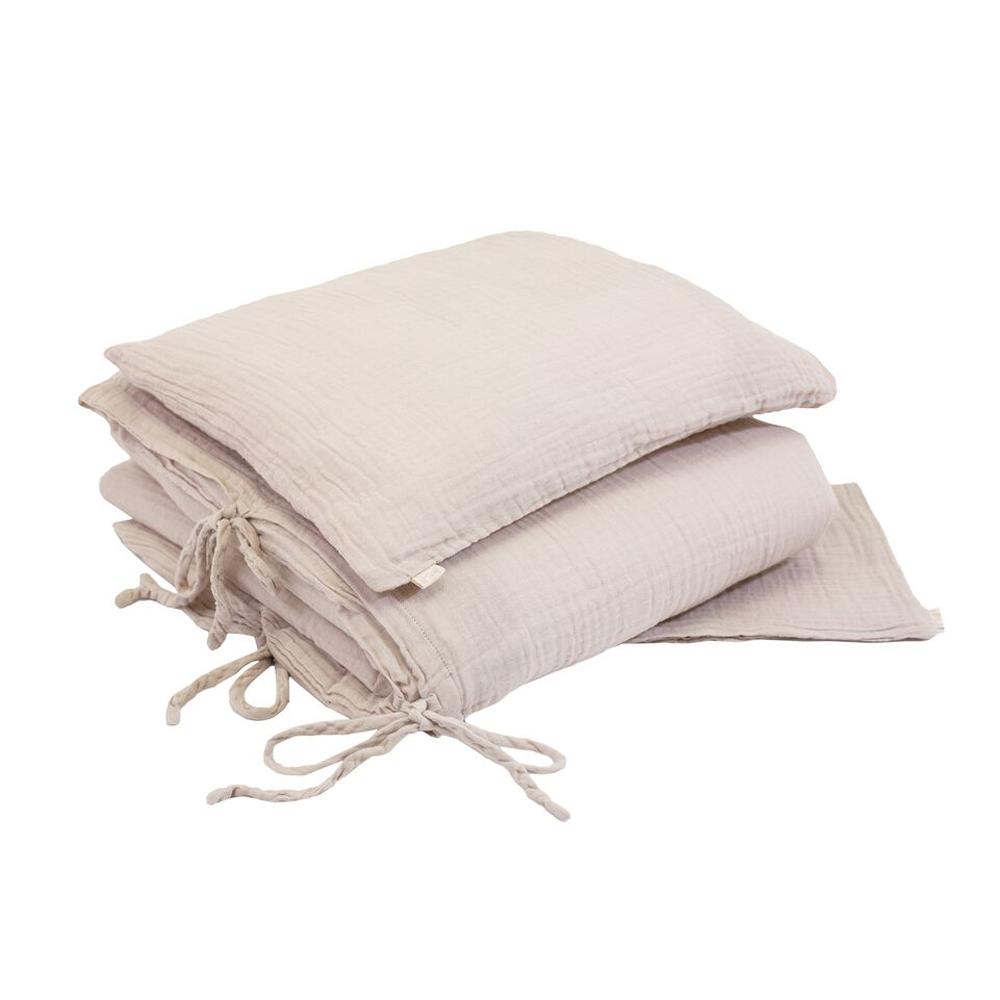 parure de lit en gaze de coton rose poudr num ro 74 pour chambre enfant les enfants du design. Black Bedroom Furniture Sets. Home Design Ideas