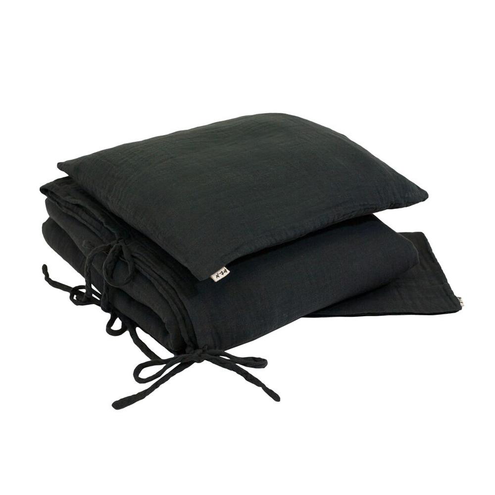 parure de lit en gaze de coton gris anthracite num ro 74 pour chambre enfant les enfants du. Black Bedroom Furniture Sets. Home Design Ideas