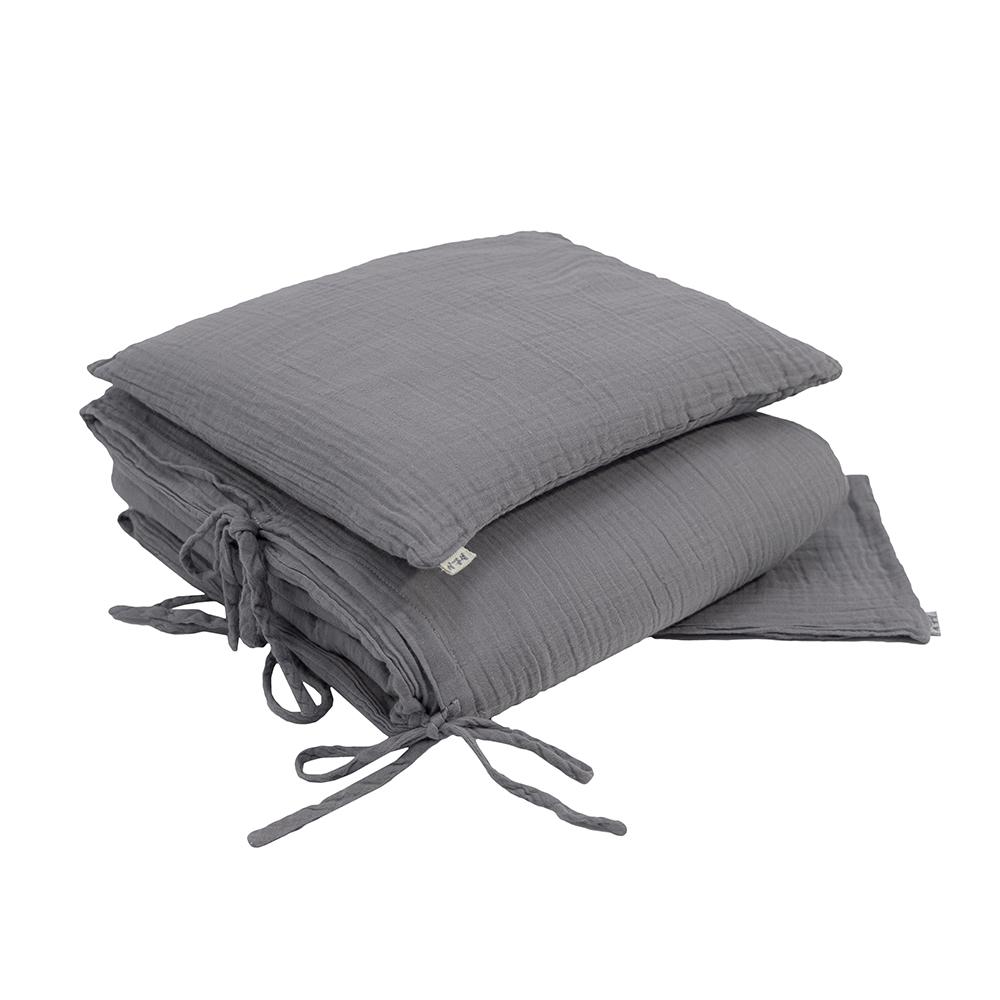 parure de lit en gaze de coton gris stone num ro 74 pour chambre enfant les enfants du design. Black Bedroom Furniture Sets. Home Design Ideas