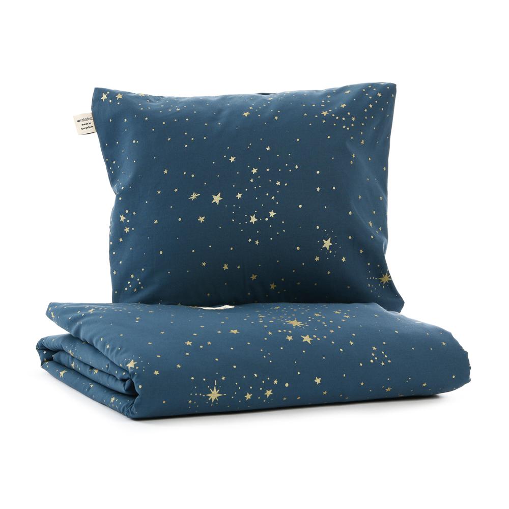 parure de lit himalaya stella elements bleu marine nobodinoz pour chambre enfant les enfants. Black Bedroom Furniture Sets. Home Design Ideas