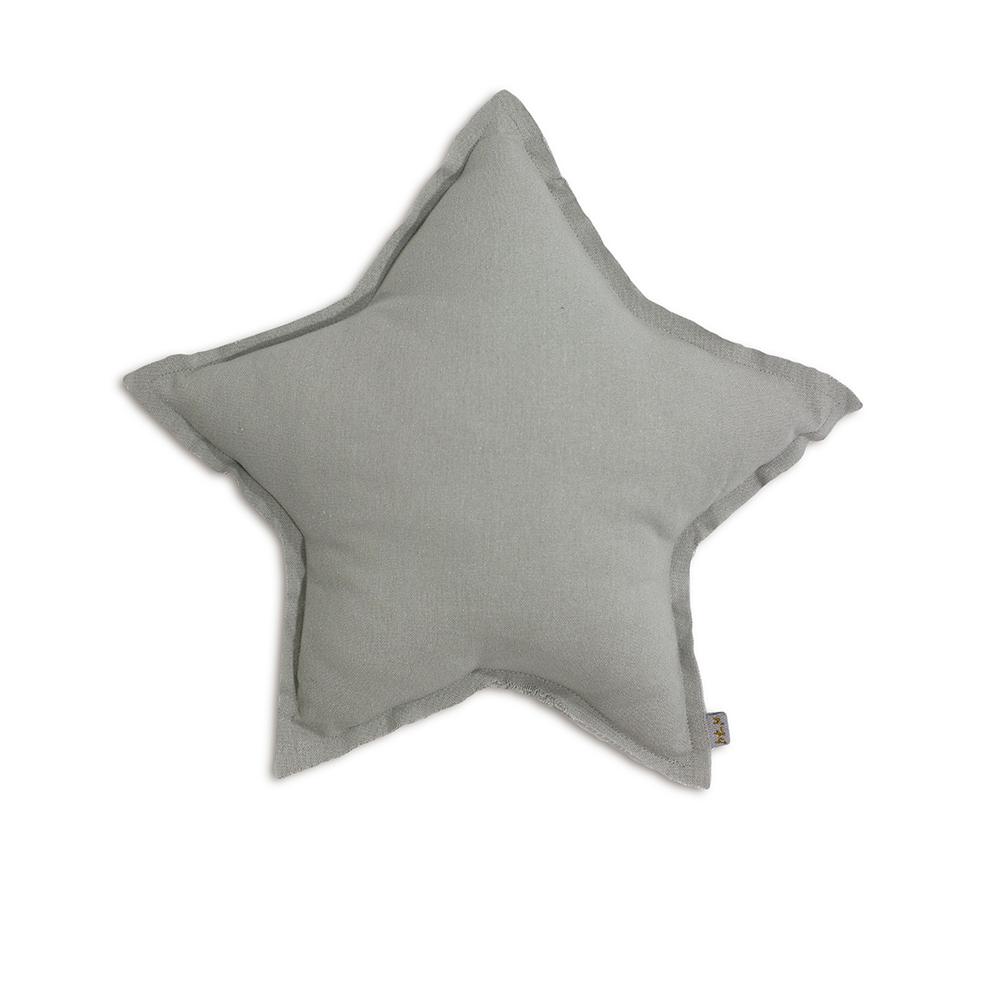 petit coussin etoile gris argent num ro 74 pour chambre. Black Bedroom Furniture Sets. Home Design Ideas