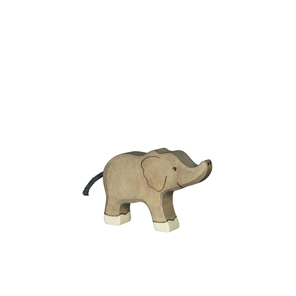 petit elephant avec sa trompe lev e holztiger pour chambre enfant les enfants du design. Black Bedroom Furniture Sets. Home Design Ideas