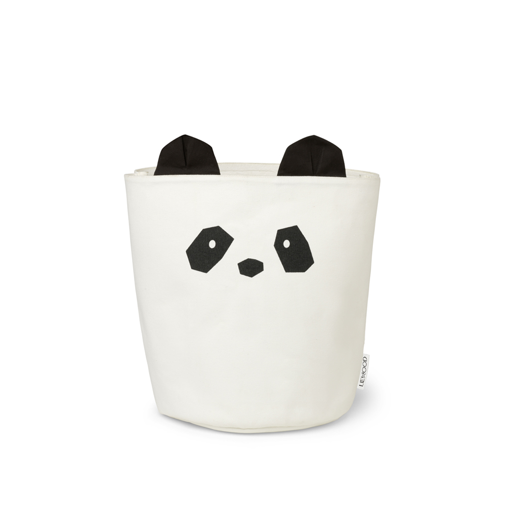 petit panier de rangement panda ella cr me liewood pour. Black Bedroom Furniture Sets. Home Design Ideas