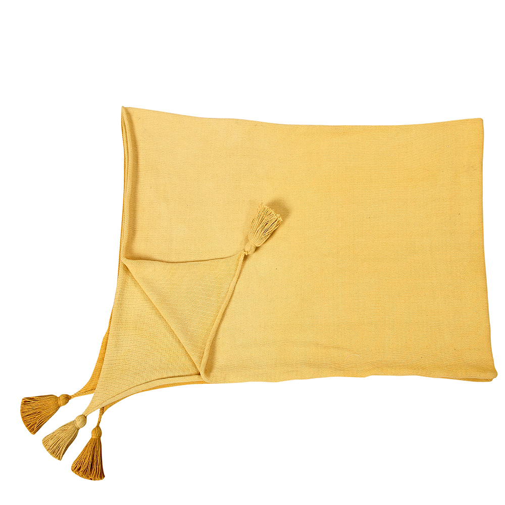 plaid manta d grad 120 x 180 jaune lorena canals pour chambre enfant les enfants du design. Black Bedroom Furniture Sets. Home Design Ideas