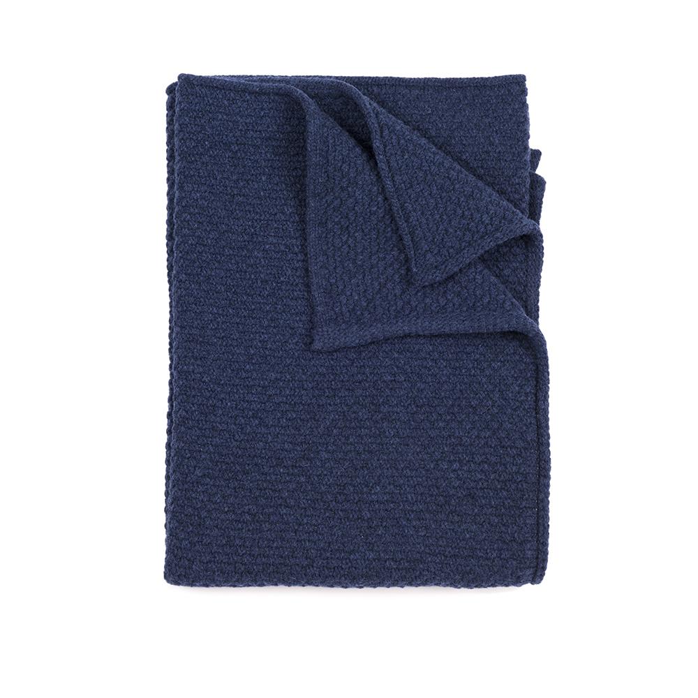plaid b b tricot bleu nuit linge particulier pour chambre enfant les enfants du design. Black Bedroom Furniture Sets. Home Design Ideas