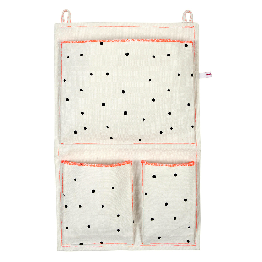 pochette murale dots mimilou pour chambre enfant les enfants du design. Black Bedroom Furniture Sets. Home Design Ideas