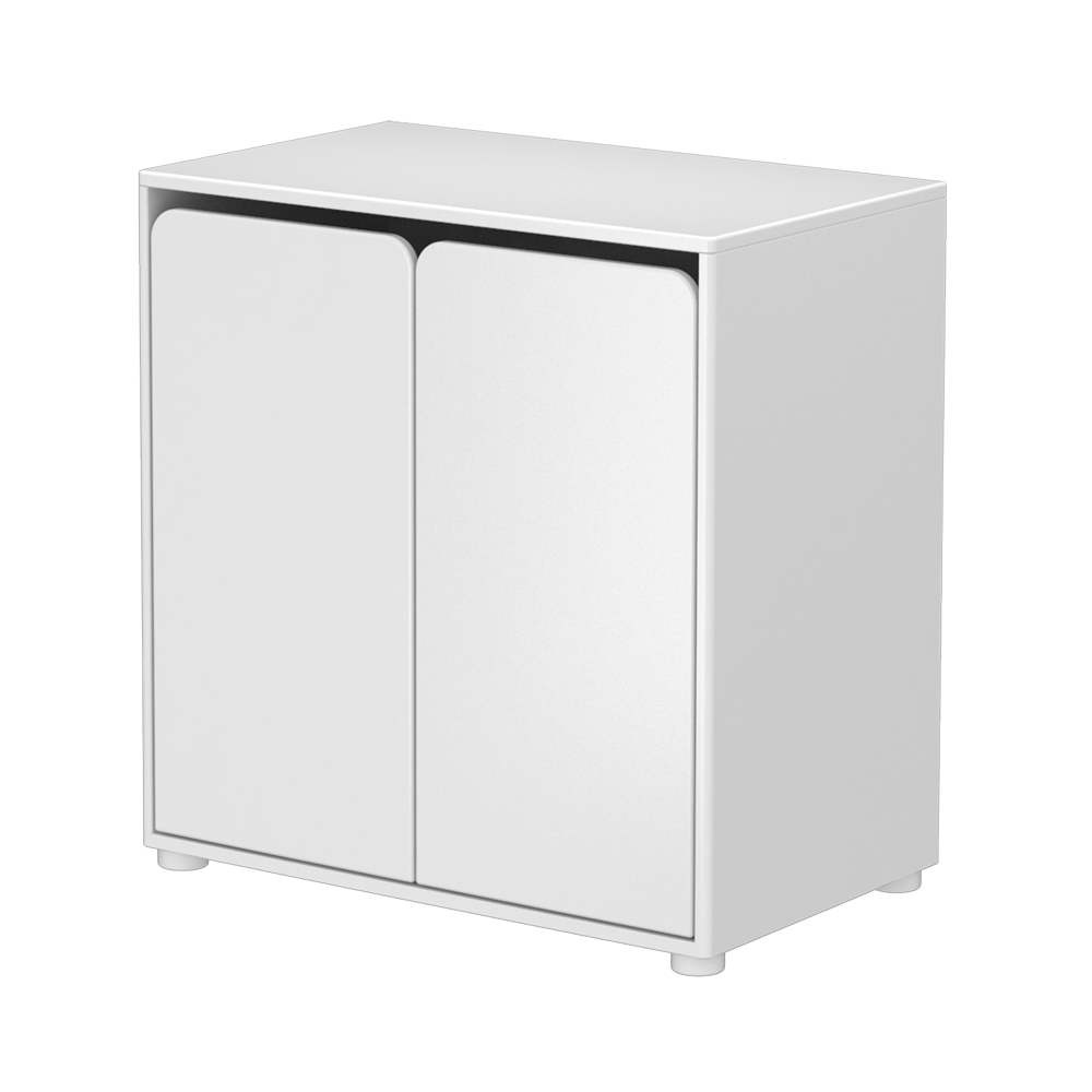 petite armoire 2 portes blanc flexa pour chambre enfant les enfants du design. Black Bedroom Furniture Sets. Home Design Ideas