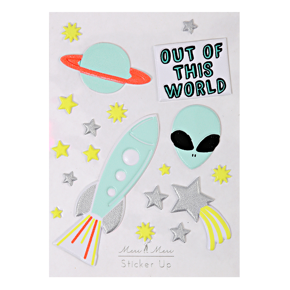 Stickers out of this world 3d meri meri pour chambre for Out of this world design
