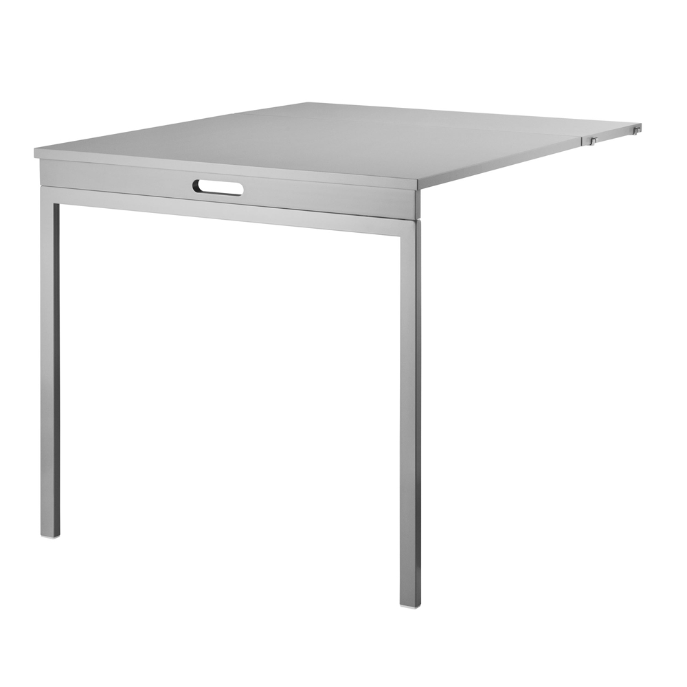 Table murale pliante gris string pour chambre enfant for Table pliante murale