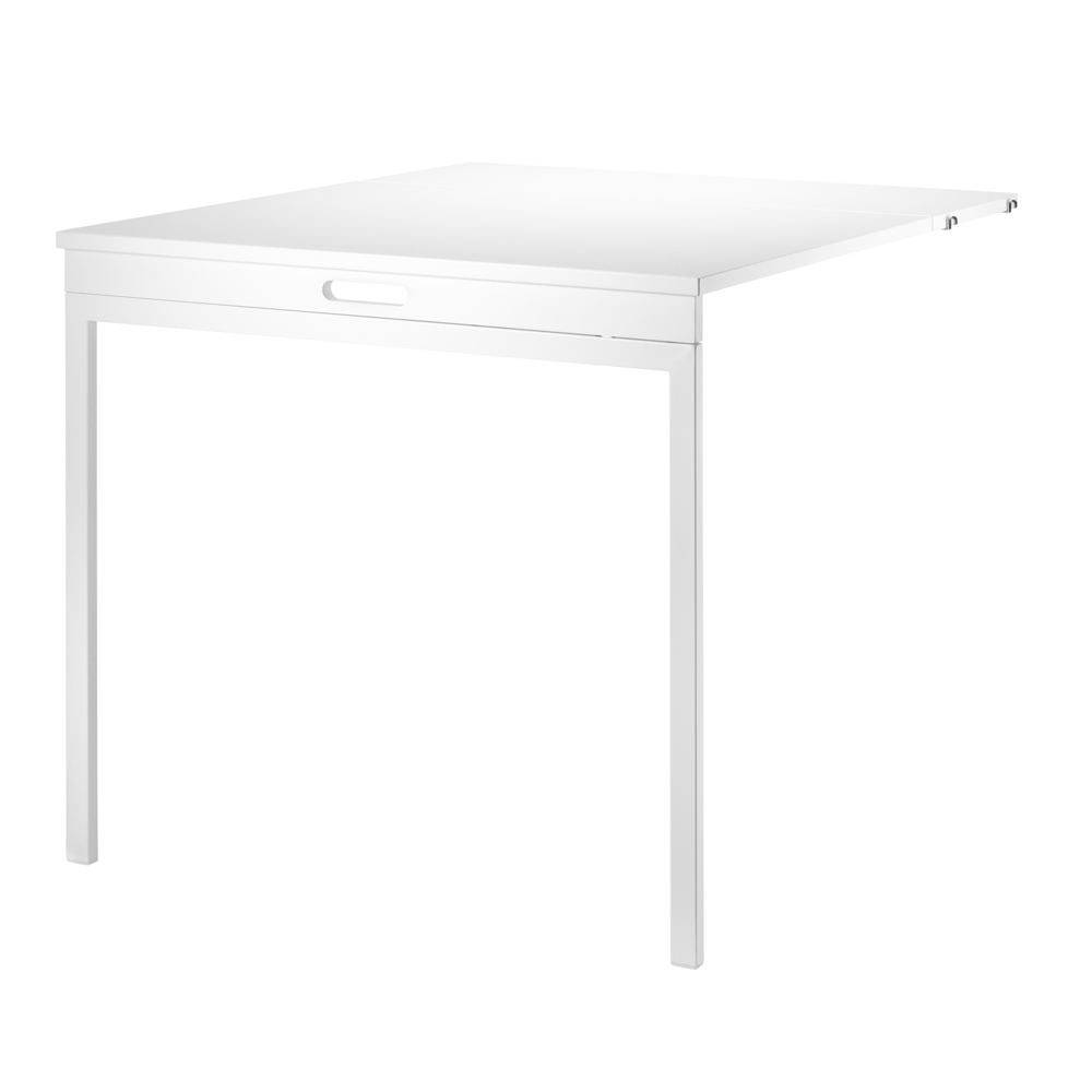 Table murale pliante blanc string pour chambre enfant for Table pliante murale