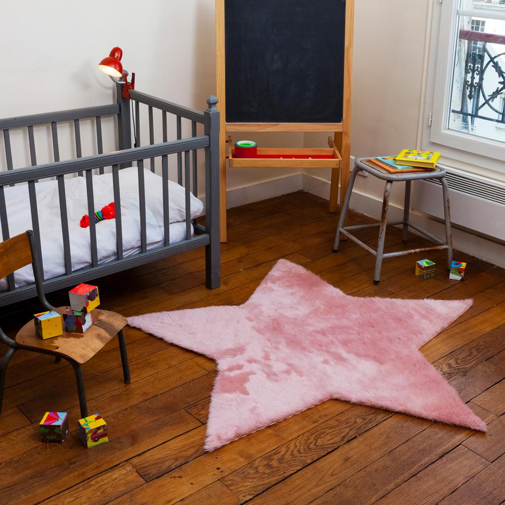 Tapis Etoile - Rose poudré Pilepoil pour chambre enfant - Les ...