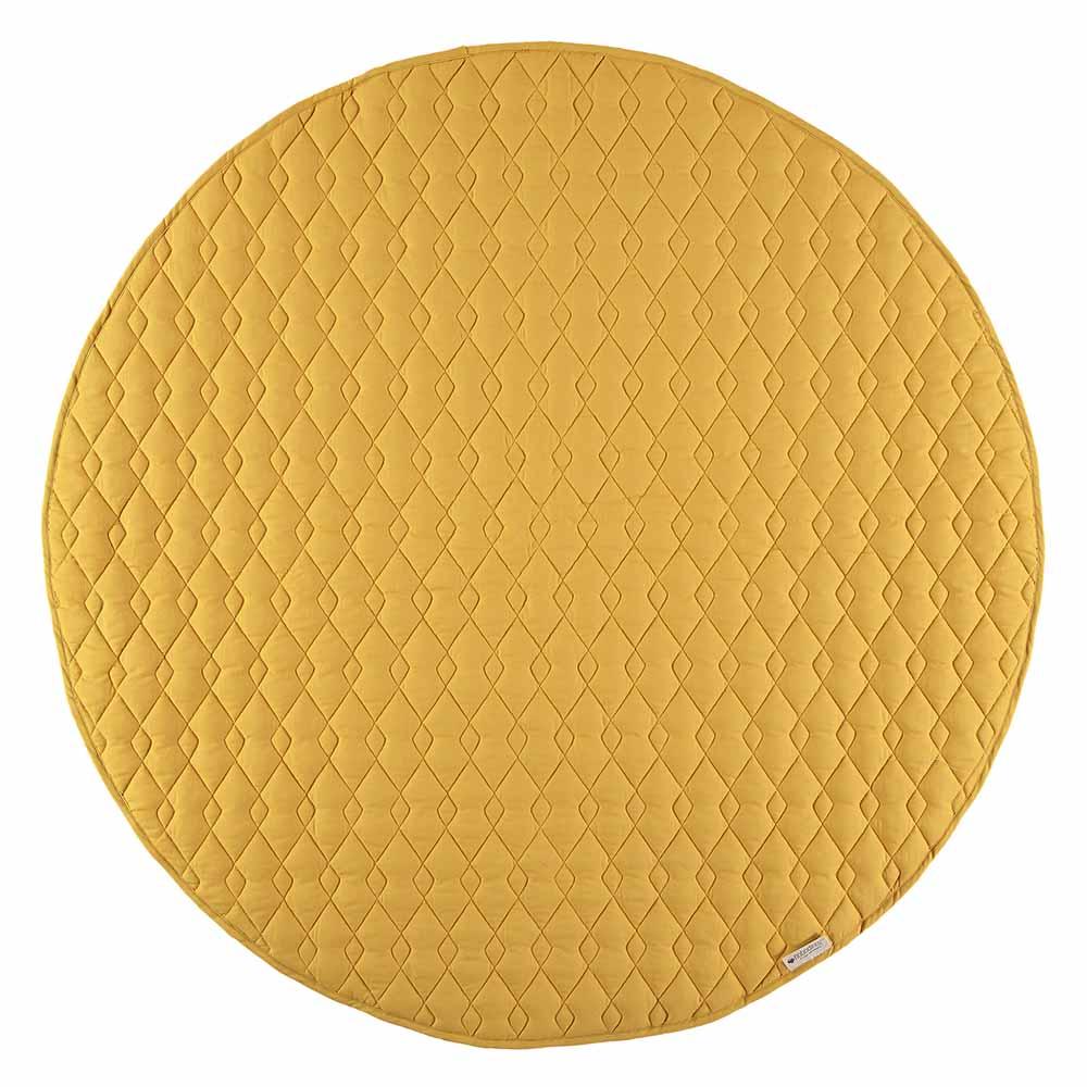 Tapis kiowa pure line jaune or nobodinoz pour chambre for Produit pour nettoyer les tapis