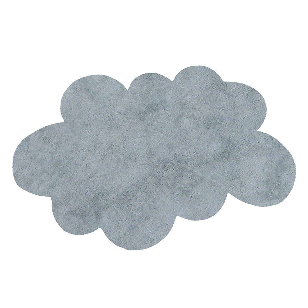 tapis nuage poils courts gris clair pilepoil pour