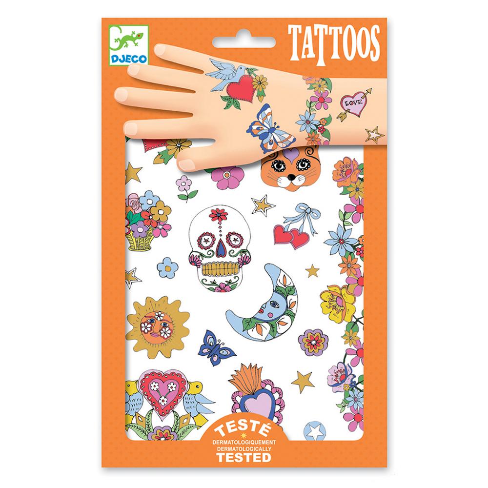 Tatouages f te mexicaine djeco pour chambre enfant les enfants du design - Decoration mexicaine a imprimer ...