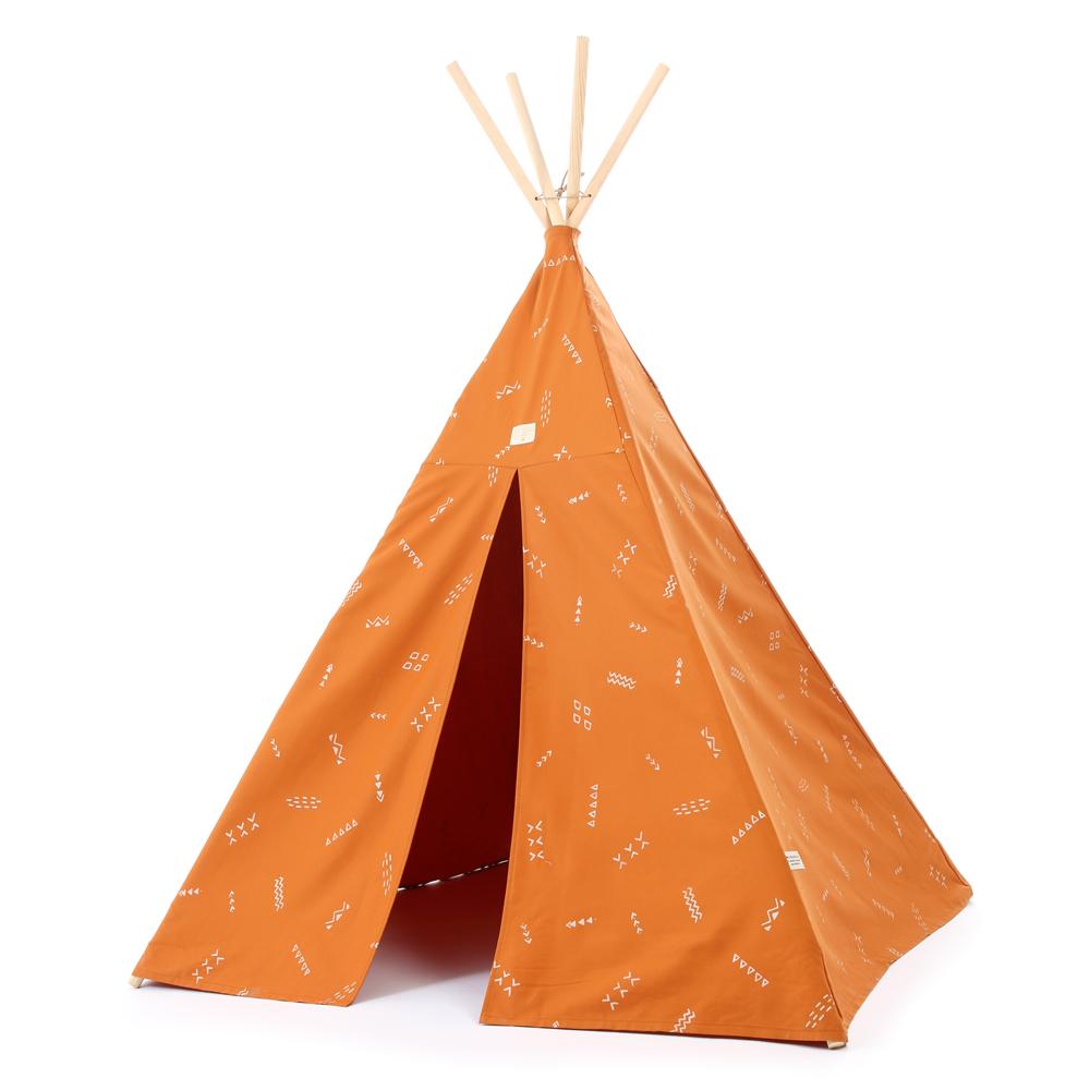 tipi enfants phoenix secrets elements orange nobodinoz. Black Bedroom Furniture Sets. Home Design Ideas