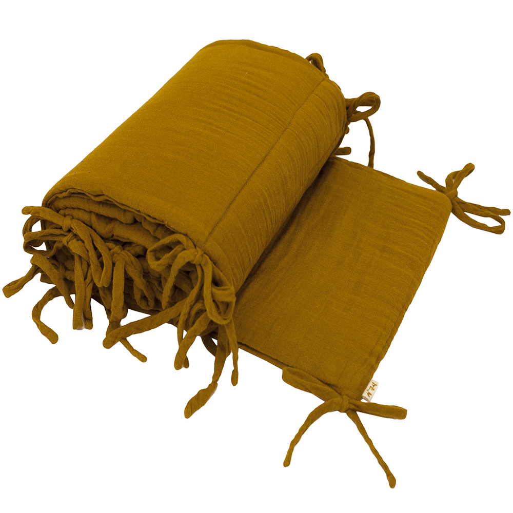tour de lit en gaze de coton curry num ro 74 pour chambre enfant les enfants du design. Black Bedroom Furniture Sets. Home Design Ideas