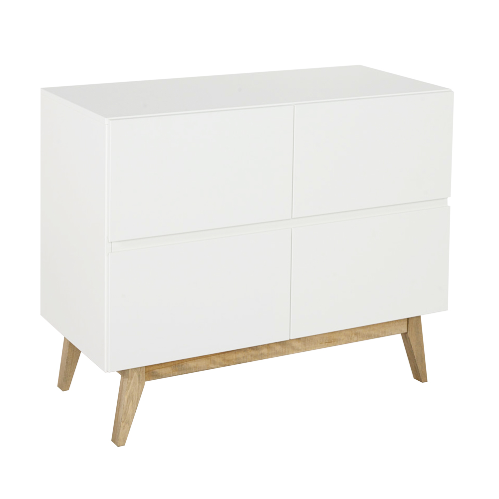 commode 4 tiroirs trendy blanc quax pour chambre enfant les enfants du design. Black Bedroom Furniture Sets. Home Design Ideas