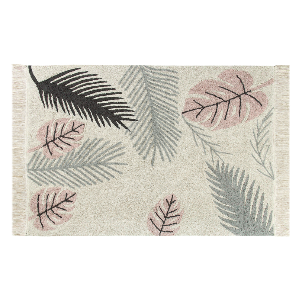 Tapis tropical pink rose lorena canals pour chambre for Akzente design