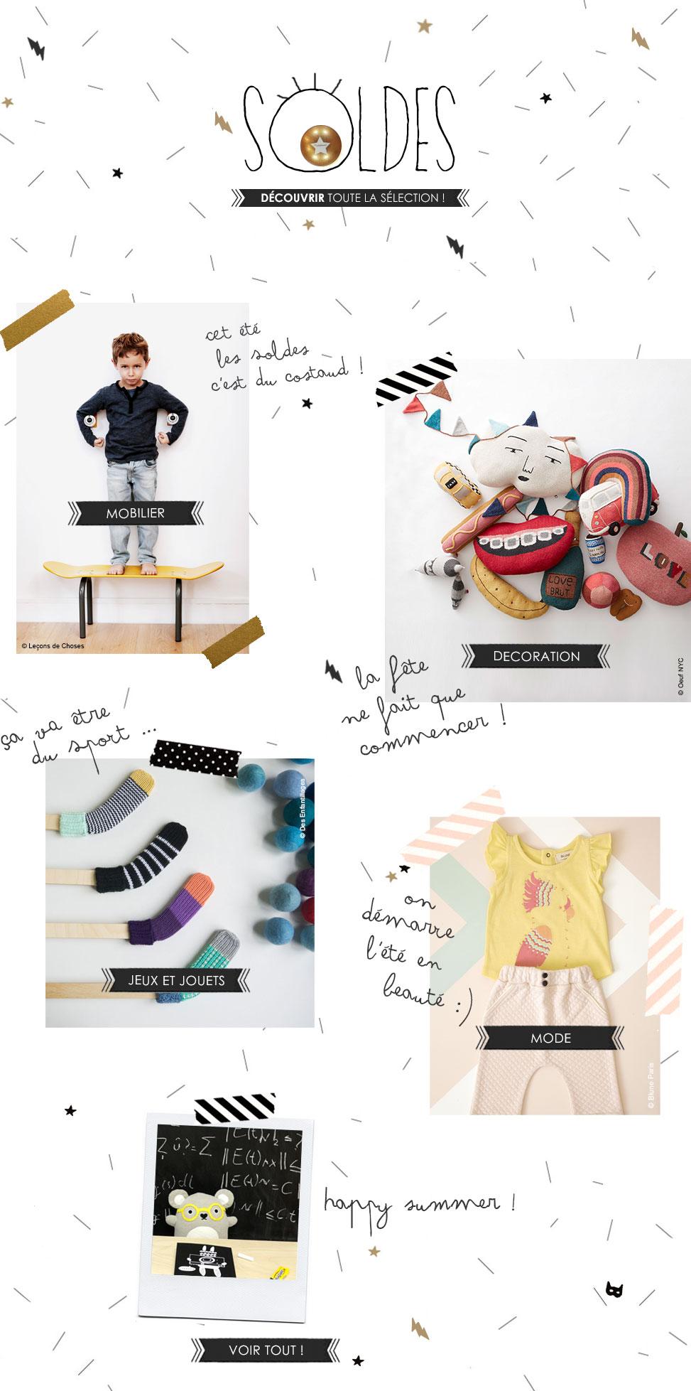 Lit enfant meubles enfant design et accessoires soldes 2017 tous le mobilier design chez les for Mobilier design soldes