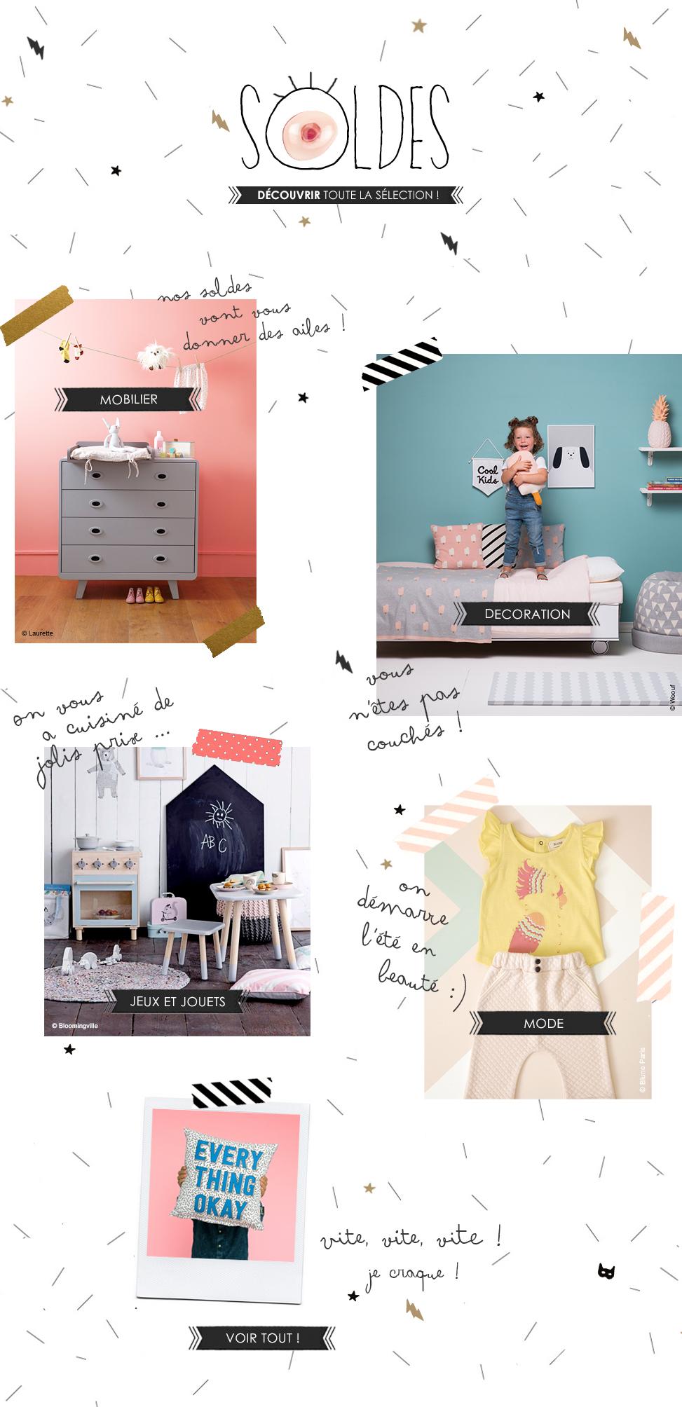 Lit enfant meubles enfant design et accessoires soldes 2016 tous le mobilier design chez les for Mobilier design soldes